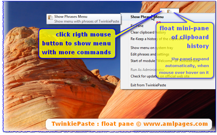 TwinkiePaste : Float pane with clipboard history